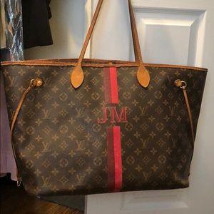 Custom Louis Vuitton LV Neverfull Tote Bag